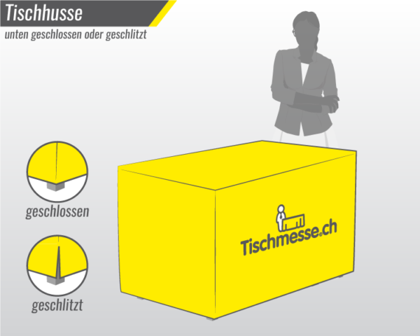 Textil Tischhusse Husse für Tische online bestellen mit Druck